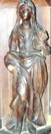 Wooden statue of Mary Magdalene